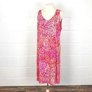 J Jill shift dress sz 16 petite floral sleeveless